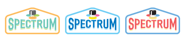 Spectrum logo color studies