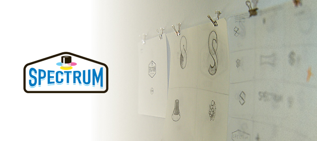Spectrum logo and exploratory sketches