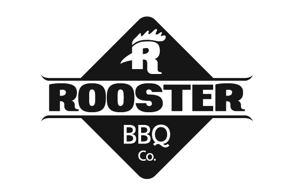 Rooster head  R in a diamond shape logo design