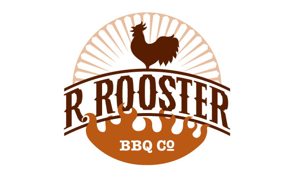Final R. Rooster logo design in color