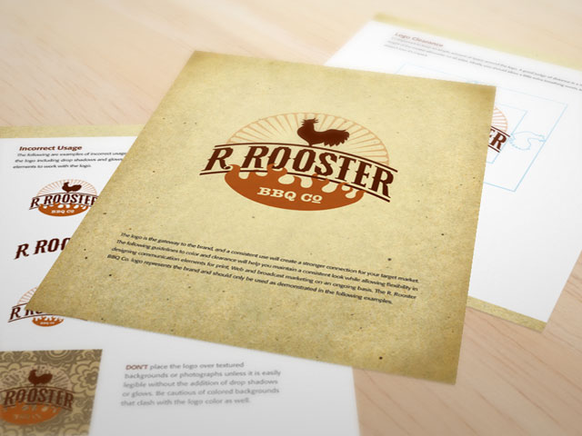 R. Rooster BBQ Co. brand style guide excerpts