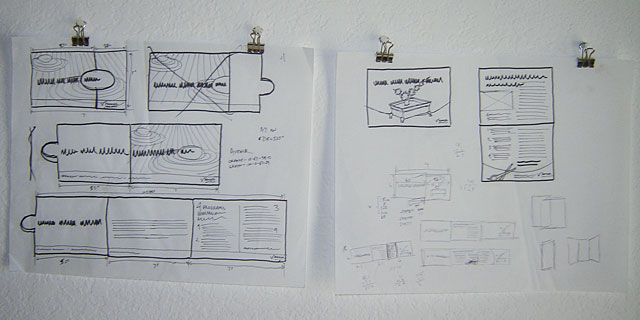 sketches of direct mail concepts for election management services