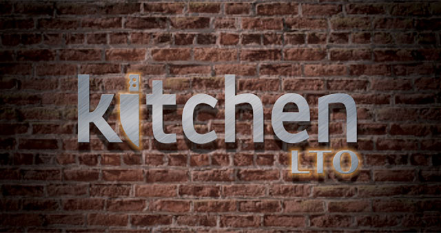 Kitchen LTO backlit metal wall sign