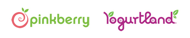 Pinkberry and Yogurtland Logos